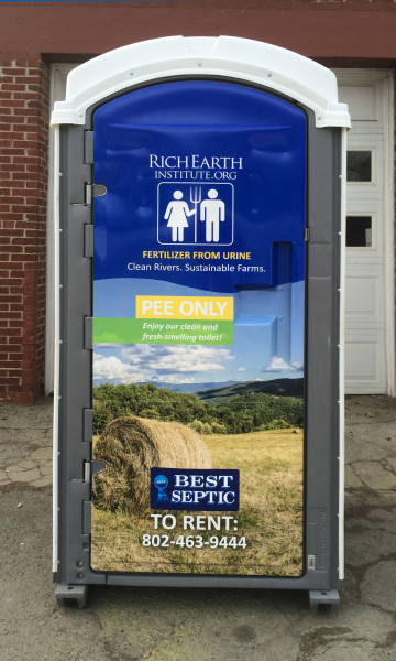 This urine-collecting portable toilet is available to rent.