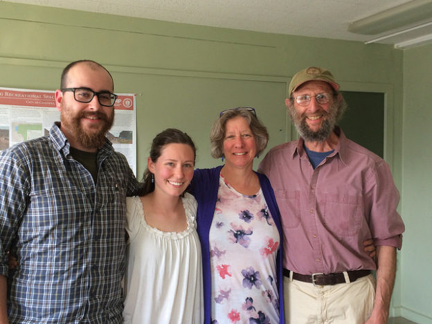 Rich Earth team attending Cat's defense of her thesis: Conor Lally, Catherine Bryars, Kim Nace, Ben Goldberg
