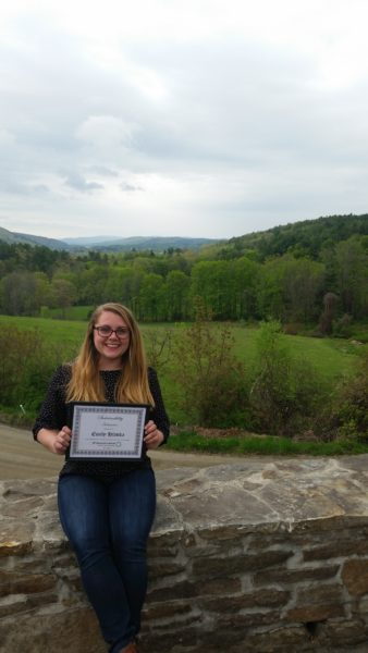 Emily Hlavka at S.I.T. receives the 2016 Sustainability Award.